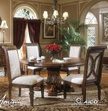Villagio RoundOval Pedestal Dining Table By AICO Home Gallery - Aico dining room set
