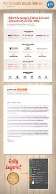 Visual Resume Template Free PSD Visual Resume Template Free PSD Files 20