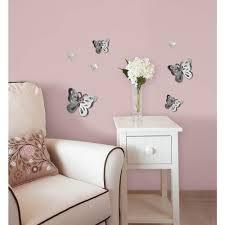 3d Butterfly Wall Decor 133 In X 1425 In 3d Mirror Art Butterfly Wall Decal Ma99951