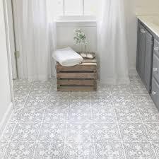 image of white painting vinyl floor tile