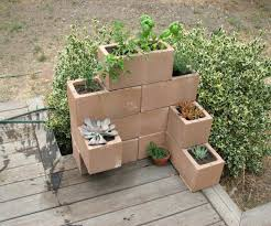 Concrete Block Planters Cinder Block Planter 5 Steps With Pictures  Architectures Concrete Block Garden Wall Footing