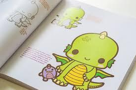 kawaii art tutorials beginner book chibi dinosaur
