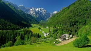 Spring In The Alpine Valley 4K wallpaper