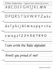 Penmanship Practice Sheet Italic Handwriting Practice Sheet By Italic Handwriting By