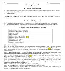Car Loan Agreement Template Pdf Loan Contract Template 27 Examples ...