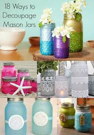 How To Decorate Canning Jars 100 unique ways to decoupage mason jars Mod Podge Rocks 63