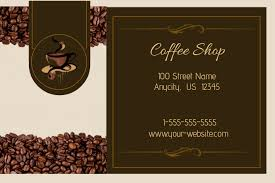 Maybe you would like to learn more about one of these? Coffee Shop Business Card Template Postermywall