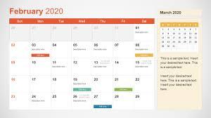 Phot Calendar 2020 Calendar Powerpoint Template