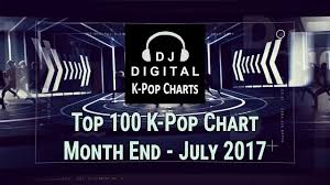 Charts 2012 Top 100 Top 100 K Pop Songs Chart July 2017 Month End Chart
