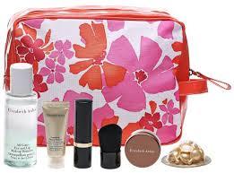 elizabeth arden 7 peice beauty gift set with fl pouch orange