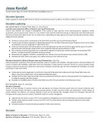 Teachers Resume Examples Special Education Resume Examples Special