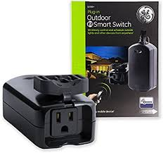ge wave wireless. GE Z-Wave Wireless Smart Lighting Control Outdoor Module, On/Off, Plug-In,  Black, Hub Required, 12720, Works With Alexa Ge Wave Wireless