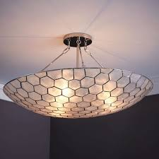 capiz semi flushmount large west elm throughout large flush mount ceiling light