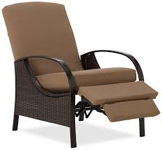 Black Polished Iron Porch Chair With Ottoman With Recliner Outdoor
