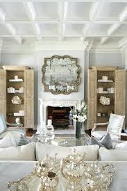 mirror over fireplace large convex above wall