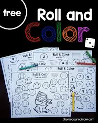 Free winter roll and color games | Teaching Math | Kindergarten math ...