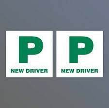 Details About 2x Legal P Plates New Driver Legal Stickers Sign Passed Pass Car Learner