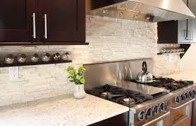 Diy Kitchen Tile Backsplash Kitchen Outstanding Kitchen With White Sandstone Tile Backsplash