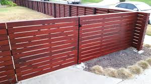 horizontal wood fence door. Front Yard Horizontal Fence + Gate In Los Angeles, 90056, Built By WoodFenceExpert. Wood Door O