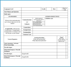 Free Printable Lesson Plan Template Blank Cute Outline