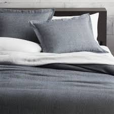 weekendr blue chambray king duvet cover