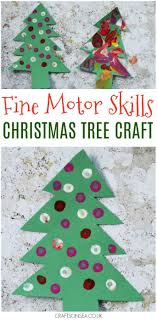 Fine Motor Skills Christmas Tree Craft