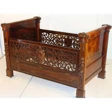 ( cm) Country of Origin:USA Style:Victorian Maker:Aleander Rou  Condition:Original Year:19th C. Description:Antique Victorian baby crib  eecuted in beutifully ...
