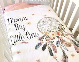 Dream Catcher Crib Set BABY BEDDING SET Baby Cot Crib Quilt Blanket Boho Amazing 36