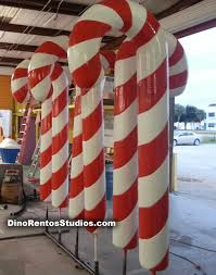 Large Candy Cane Decorations 60 Foot Hardcoated Foam Candy Cane Dino Rentos Studios INC 9
