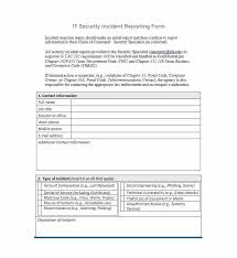 Incident Report Template Employee Police Generic Lab Free
