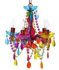 under 80 5 arm multi color girls teens chandelier