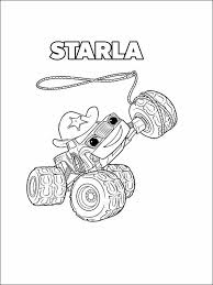 Blaze And The Monster Machines Coloring Pages 7 Emmitt Blaze 2