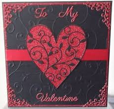 Details About Handmade Luxury Gothic Valentines Day Card With A Red Black Heart Design