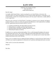 Gallery Of Social Work Cover Letter Examples Social Work Cover