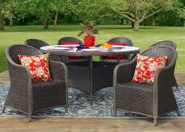 savannah 7 piece all weather wicker outdoor patio furniture dining set jpg