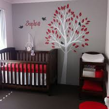 Grey and Red Nursery
