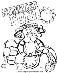 Small Picture Coloring Page Summer Summer Themed Coloring Pages In Cartoon