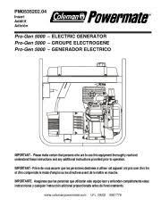 coleman powermate generator manuals Coleman Powermate 2250 Watt Generator Wiring Diagram coleman powermate pro gen 5000 pm0535202 generator owners manual Coleman Powermate 2250 Manual