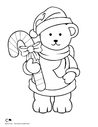Small Picture Christmas Coloring Pages Teddy Bear Coloring Pages