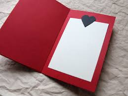 A Handmade Valentine Card Red Black And The Printed Word Loulou