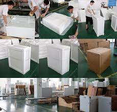 as the glasses and countertops we use cartons for ng and reinforce them with wooden frames to avoid breakage in transit