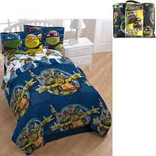 d i d 5 piece kids green blue teenage mutant ninja turtles comforter twin set tmnt bedding