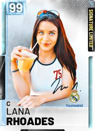 Lana wants to save you time, and time is money. Lana Rhoades Nba 2k19 Custom Card 2kmtcentral