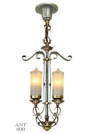1920s art deco candle style pendant