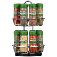 Organic Spice Rack Fascinating Amazon McCormick Chrome TwoTier Organic Spice Rack Grocery