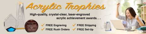 acrylic trophies with text the high quality crystal clear laser engraved
