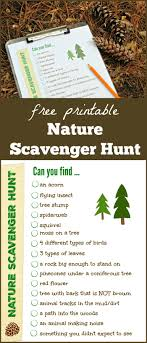 Outdoor Nature Scavenger Hunt {W/free Printable!} - Edventures With Kids