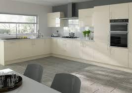 lewes high gloss cream kitchen doors