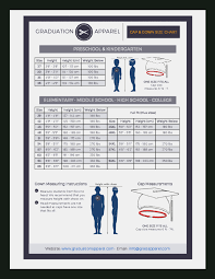 Cap And Gown Measurement Chart Up To Date Jostens Cap And Gown Size Chart Jostens Child
