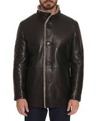 robert graham men s benson shearling fur lined leather jacket